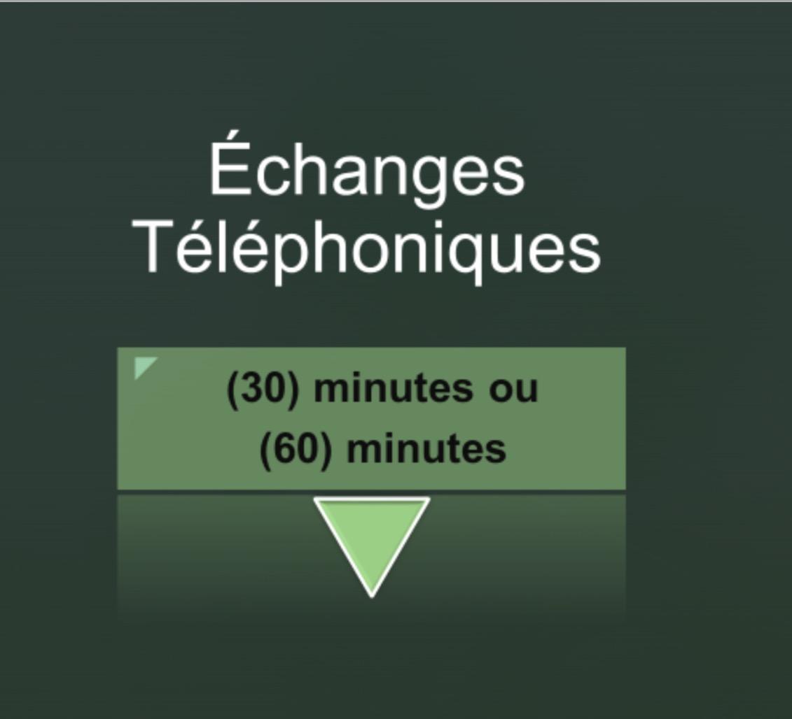 Échanges téléphoniques aout 2017 1